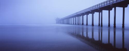 Scripps Pier in Fog