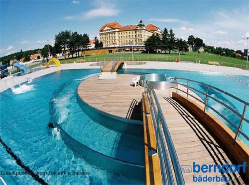 Швейцария, открит басейн в Зноймо